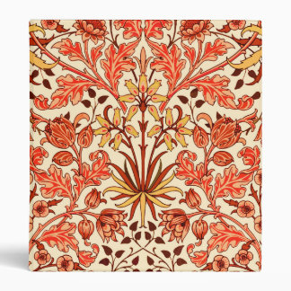 William Morris Hyacinth Print, Orange and Rust Vinyl Binders