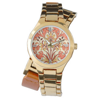 William Morris Hyacinth Print, Orange and Rust Watch