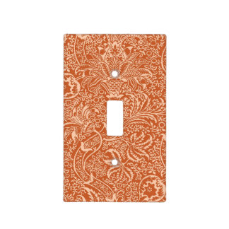 William Morris Indian, Coral Orange and Peach Light Switch Cover