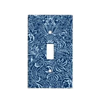 William Morris Indian, Dark Indigo and Sky Blue Light Switch Cover