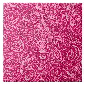 William Morris Indian, Deep Fuchsia Pink Tile