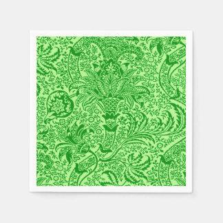 William Morris Indian, Lime and Kiwi Green Disposable Napkin