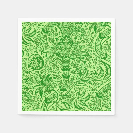 William Morris Indian, Lime and Kiwi Green Disposable Napkin