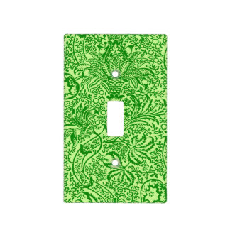 William Morris Indian, Lime and Kiwi Green Light Switch Cover