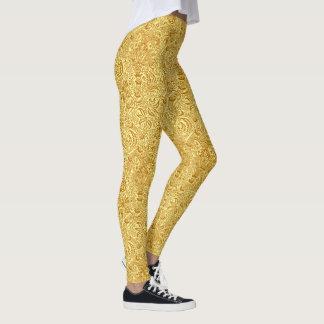 William Morris Indian, Mustard Yellow and Gold Leggings