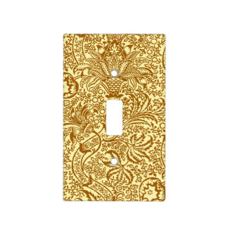 William Morris Indian, Mustard Yellow and Gold Light Switch Cover