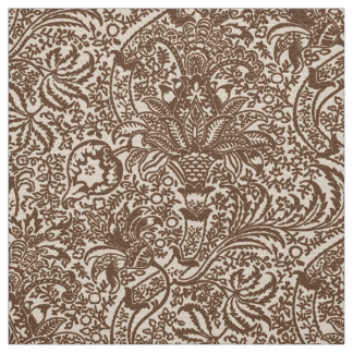 William Morris Indian, Taupe Tan and Beige Fabric