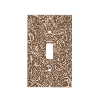 William Morris Indian, Taupe Tan and Beige Light Switch Cover