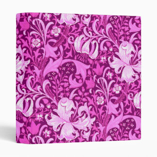 William Morris Iris and Lily, Amethyst Purple Binder