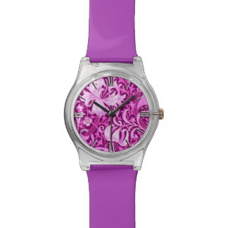 William Morris Iris and Lily, Amethyst Purple Wrist Watches