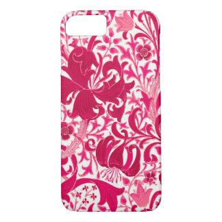 William Morris Iris and Lily, Fuchsia Pink Case-Mate iPhone Case