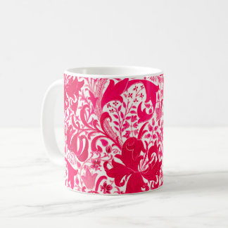 William Morris Iris and Lily, Fuchsia Pink Coffee Mug