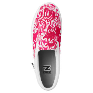 William Morris Iris and Lily, Fuchsia Pink Slip-On Sneakers