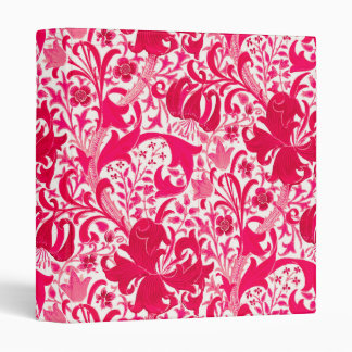 William Morris Iris and Lily, Fuchsia Pink Vinyl Binder
