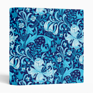 William Morris Iris and Lily, Indigo Blue 3 Ring Binder