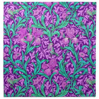 William Morris Iris Pattern, Amethyst Purple Napkin