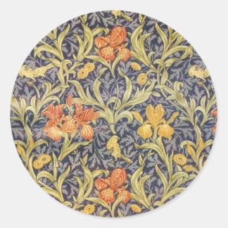 William Morris Iris Round Sticker