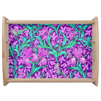 William Morris Irises, Amethyst Purple Serving Tray