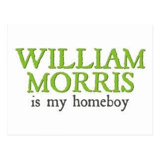 William Morris is my Homeboy Postcard