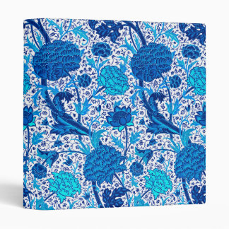William Morris Jacobean Floral, Cobalt Blue Vinyl Binders