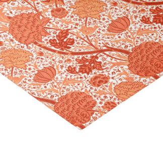 William Morris Jacobean Floral, Coral Orange Tissue Paper