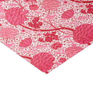 William Morris Jacobean Floral, Coral Pink Tissue Paper