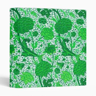 William Morris Jacobean Floral, Emerald Green Vinyl Binder