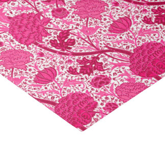 William Morris Jacobean Floral, Fuchsia Pink Tissue Paper