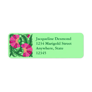 William Morris Jacobean, Fuchsia Pink and Green
