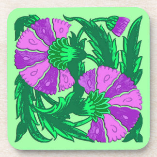William Morris Jacobean, Orchid Purple and Green Coaster