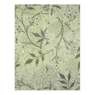 William Morris Jasmine Wallpaper Postcard
