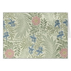 William Morris Larkspur Floral Pattern Card