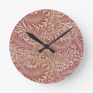 William Morris Larkspur Round Clock