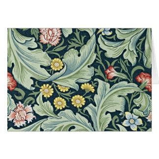 William Morris - Leicester vintage floral design Card