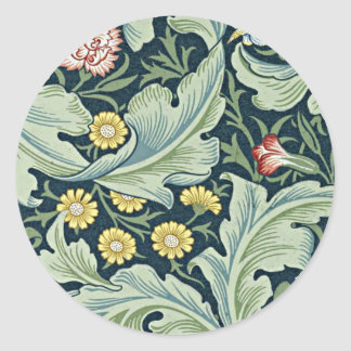 William Morris - Leicester vintage floral design Classic Round Sticker