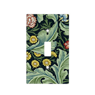William Morris - Leicester vintage floral design Light Switch Cover