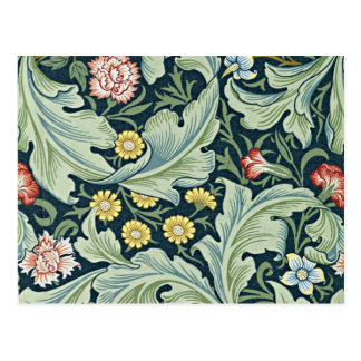 William Morris - Leicester vintage floral design Postcard