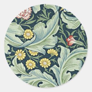 William Morris - Leicester vintage floral design Round Sticker