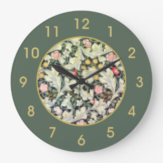 William Morris Leicester Vintage Floral Large Clock