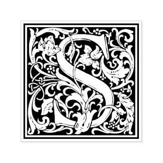 William Morris Letter S Victorian Floral Stamp