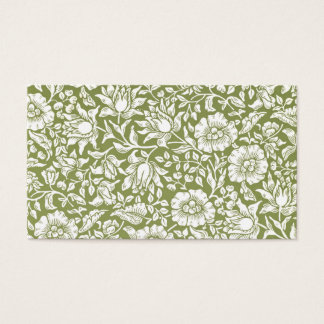 William Morris Mallow Green Pattern Business Card