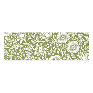 William Morris Mallow Green Pattern Mini Business Card
