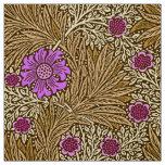 William Morris Marigold, Brown, Beige and Violet Fabric