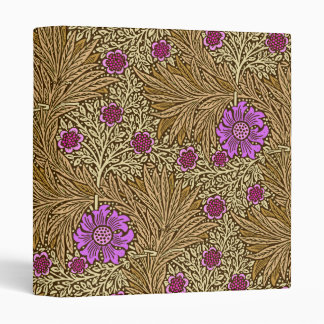 William Morris Marigold, Brown, Beige and Violet Vinyl Binder