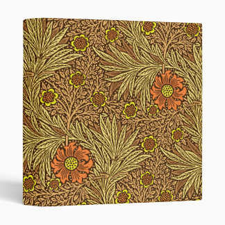 William Morris Marigold, Copper Brown and Orange Binder