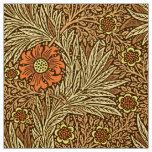 William Morris Marigold, Copper Brown and Orange Fabric