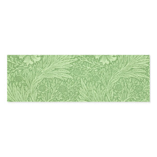 William Morris Marigold (Green) Pattern Business Cards