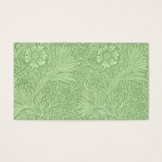 William Morris Marigold (Green) Pattern Business Card