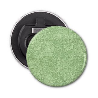 William Morris Marigold (Green) Pattern Button Bottle Opener