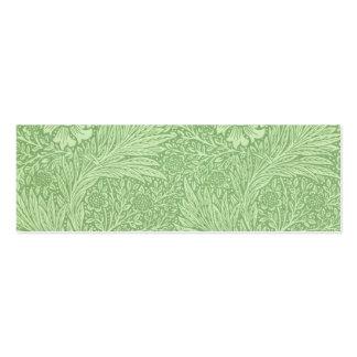 William Morris Marigold (Green) Pattern Mini Business Card